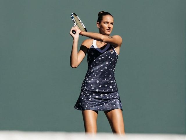 Karolína Plíšková wearing the new U.S. Open collection
